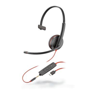 Blackwire C3215 Monaural Corded Headset (USB)