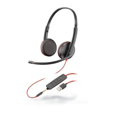 Blackwire C3225 Binaural Corded Headset (USB)